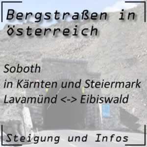 Bergstraße Soboth in Kärnten und in der Steiermark