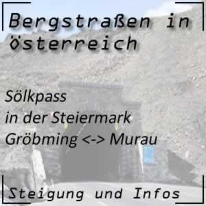 Bergstraße Sölkpass in der Steiermark