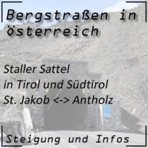 Bergstraße Staller Sattel in Tirol und Südtirol
