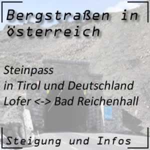 Bergstraße Steinpass in Tirol und Deutschland