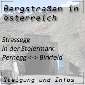 Bergstraße Strassegg in der Steiermark