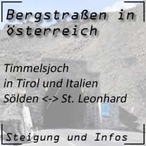 Bergstraße Timmelsjoch in Tirol und Italien