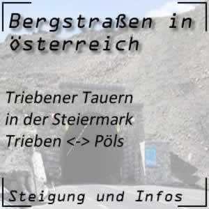 Bergstraße Triebener Tauern in der Steiermark