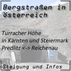 Bergstraße Turracher Höhe in Kärnten und der Steiermark