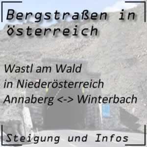 Bergstraße Wastl am Wald in Niederösterreich