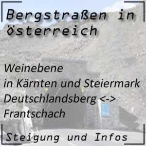 Bergstraße Weinebene in Kärnten und der Steiermark