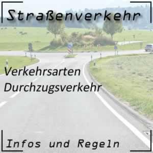Durchzugsverkehr im Straßenverkehr