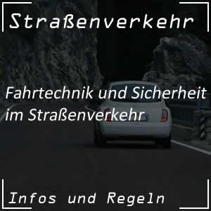 Fahrtechnik im Straßenverkehr