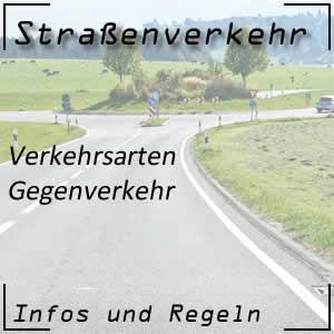 Gegenverkehr im Straßenverkehr
