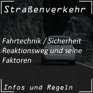 Reaktionsweg im Straßenverkehr