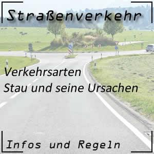 Stau oder Verkehrsüberlastung