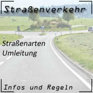 Umleitung im Straßenverkehr