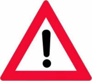 Verkehrszeichen Gefahrenzeichen Andere Gefahr