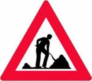 Verkehrszeichen Baustelle