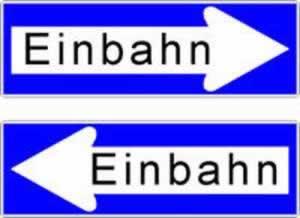 Verkehrszeichen Einbahn