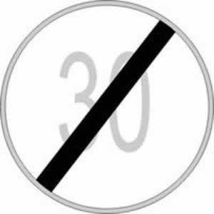 Verkehrszeichen Verbotszeichen Geschwindigkeitsbeschränkung