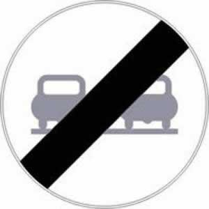Verkehrszeichen Ende des Überholverbots