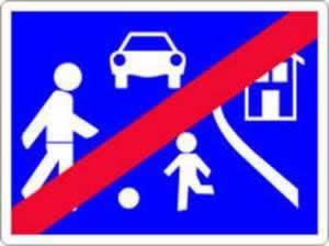 Verkehrszeichen Ende der Wohnstraße