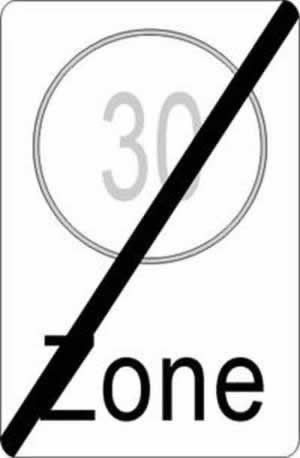 Verkehrszeichen Verbotszeichen Ende Zonenbeschränkung
