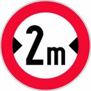 Verkehrszeichen Verbotszeichen Fahrverbot Fahrzeugbreite