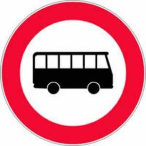 Verkehrszeichen Fahrverbot für Omnibusse