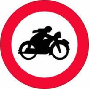 Verkehrszeichen Verbotszeichen Fahrverbot Motorrad