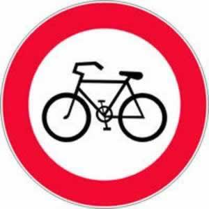 Verkehrszeichen Fahrverbot für Fahrräder