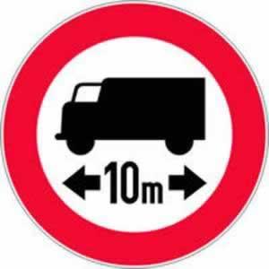 Verkehrszeichen Verbotszeichen Fahrverbot LKW nach Länge