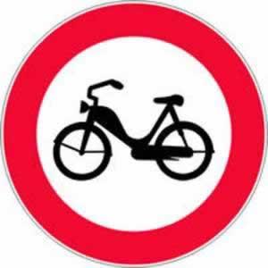 Verkehrszeichen Fahrverbot für Motorfahrräder