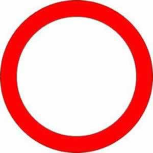Verkehrszeichen Verbotszeichen Fahrverbot