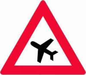 Verkehrszeichen Flugbetrieb