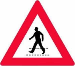 Verkehrszeichen Fußgängerübergang