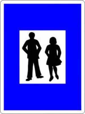Verkehrszeichen Hinweiszeichen Fußgängerzone