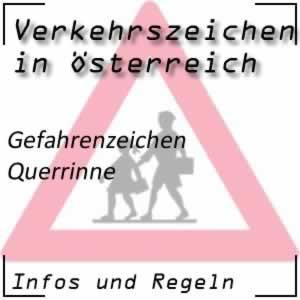 Verkehrszeichen Querrinne