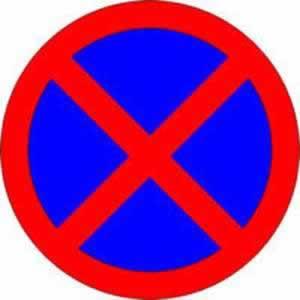 Verbotszeichen Halten und Parken verboten