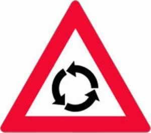 Verkehrszeichen Gefahrenzeichen Kreisverkehr