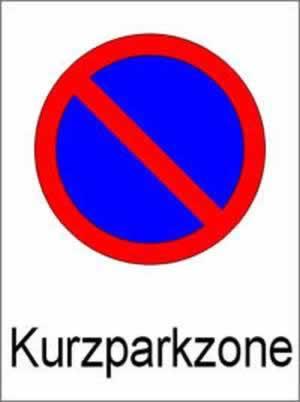 Verbotszeichen Kurzparkzone