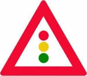 Verkehrszeichen Gefahrenzeichen Lichtzeichen