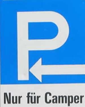 Verkehrszeichen Hinweiszeichen Parkplatzzeichen mit Zusatzinfo