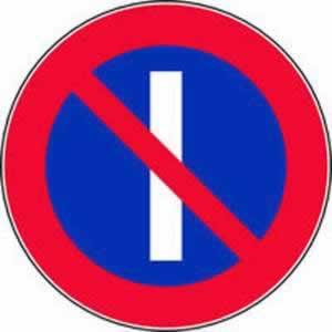 Verkehrszeichen Parken verboten an ungeraden Tagen