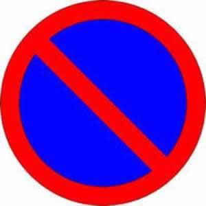 Verkehrszeichen Verbotszeichen Parken verboten