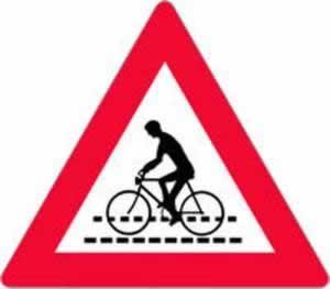 Verkehrszeichen Radfahrerüberfahrt