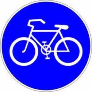 Gebotszeichen Radweg