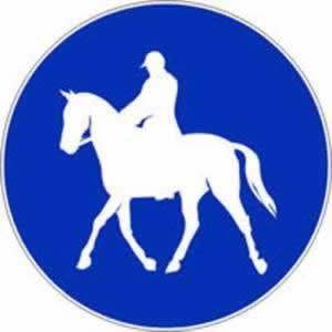 Verkehrszeichen Gebotszeichen Reitweg