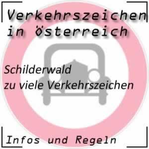 Schilderwald durch zu viele Verkehrszeichen