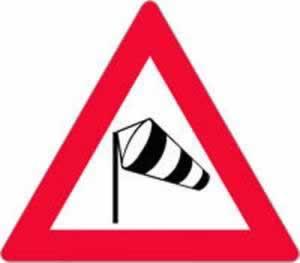 Verkehrszeichen Gefahrenzeichen gefährlicher Seitenwind