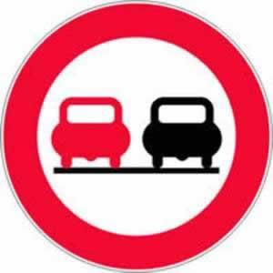 Verkehrszeichen überholen verboten