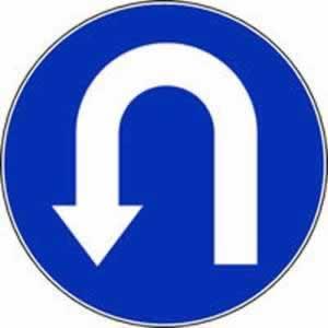 Verkehrszeichen Umkehrgebot