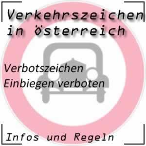 Verkehrszeichen Einbiegen verboten