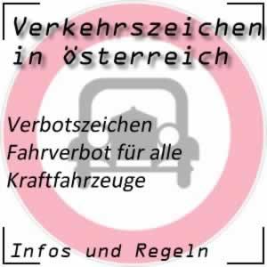 Verkehrszeichen Fahrverbot alle Kfz